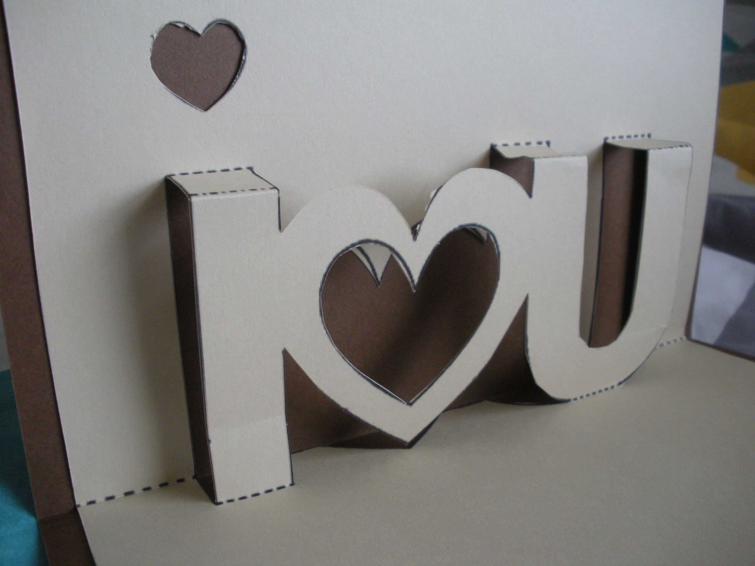 I Love You | Twenty One Intended For I Love You Pop Up Card Template