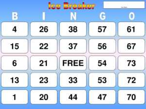 Ice Breaker Bingo Cards Instructions On Bottom Slides – Ppt with regard to Ice Breaker Bingo Card Template