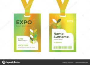 Id Card Expo Template — Stock Vector © Olgastrelnikova throughout Conference Id Card Template