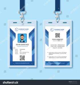 Id Card Images, Stock Photos & Vectors | Shutterstock in Id Card Template Word Free