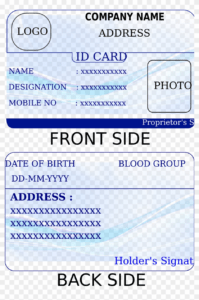 Id Card Template – Identification Card Template Printable with Credit Card Template For Kids