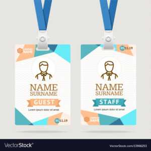 Id Card Template Plastic Badge regarding Pvc Card Template