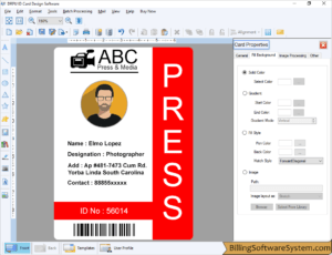 Id Maker Software Customized Employee Student Identity Card throughout Faculty Id Card Template