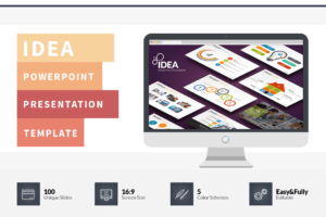 Idea Flat Powerpoint Presentation Template On Behance inside Powerpoint Presentation Template Size