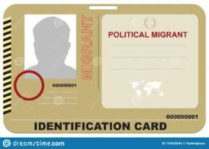 Identification Card Political Migrant Stock Vector within Mi6 Id Card Template