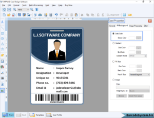 Identity Card Software Design Student Employee Faculty Photo throughout Faculty Id Card Template