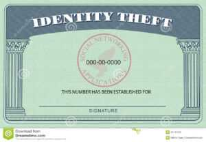 Identity Theft Card Stock Illustration. Illustration Of intended for Blank Social Security Card Template