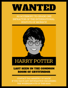 Illustrative Harry Potter Wanted Poster Template within Harry Potter Certificate Template