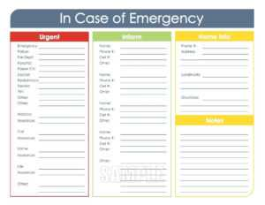 Info Card Template – Heartwork pertaining to In Case Of Emergency Card Template