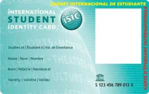 International Student Identity Card – Une Carte De Réduction with regard to Isic Card Template