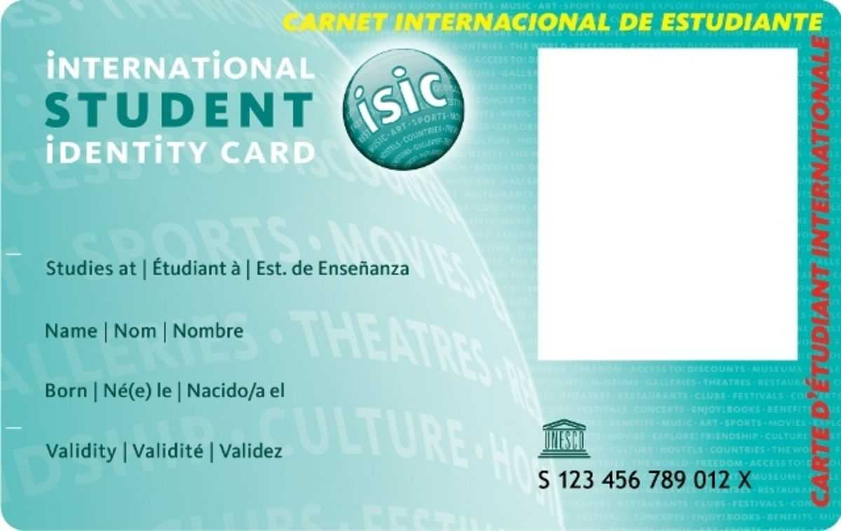 International Student Identity Card - Une Carte De Réduction With Regard To Isic Card Template