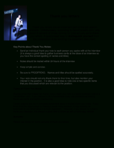 Interview Thank You Letter Sample | Templates At in Decision Card Template