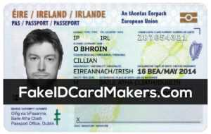 Ireland Id Card Template Psd [Irish Proof Of Identity] within Georgia Id Card Template