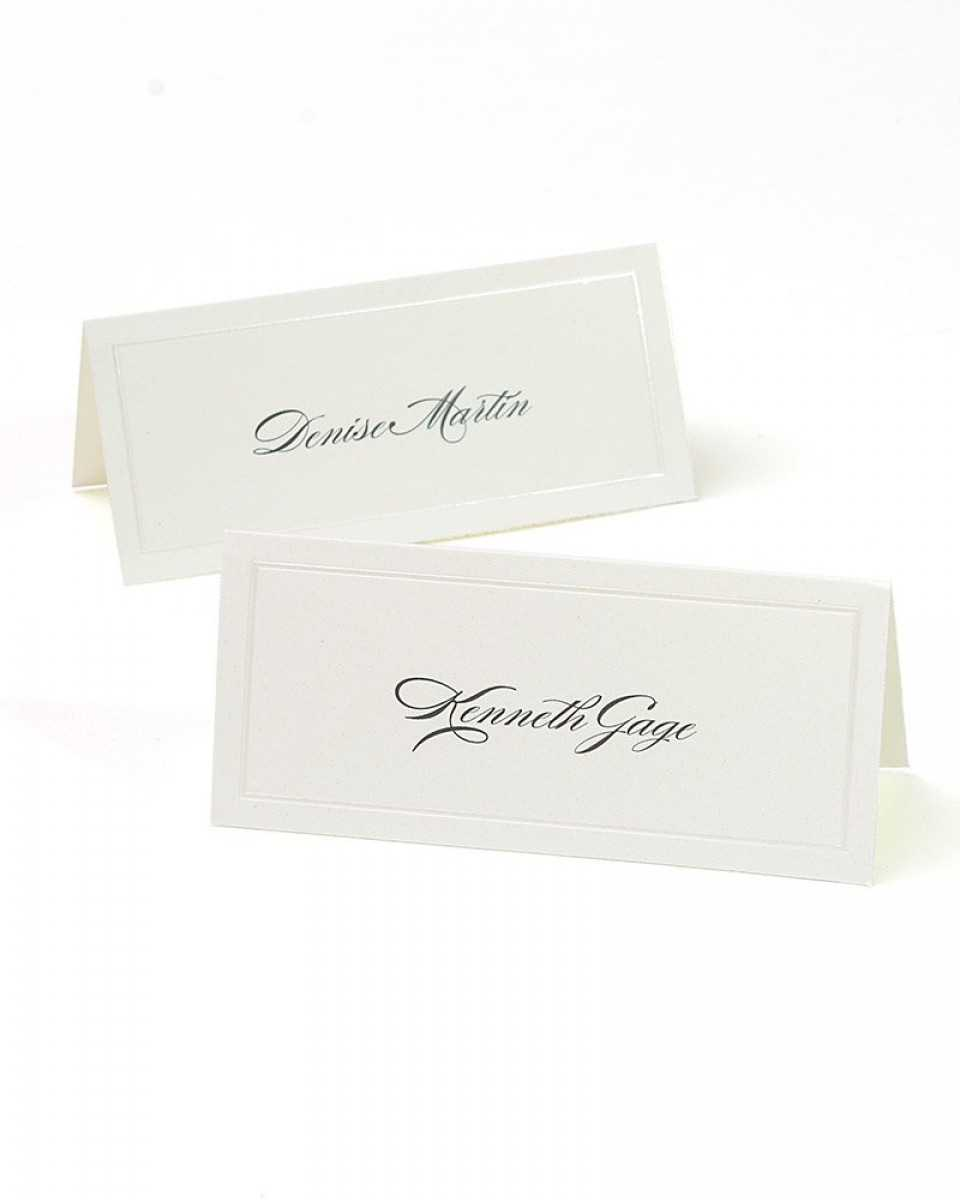 Ivory Pearl Border Printable Place Cards In Gartner Studios Place Cards Template