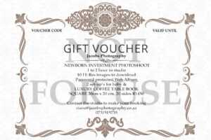 Jacobs Photography – Gift Certificates in Photoshoot Gift Certificate Template