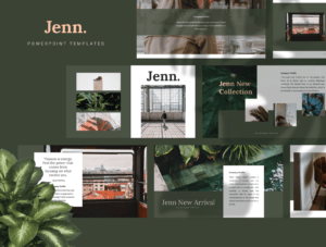 Jenn Powerpoint Templateuiplus On Dribbble inside Presentation Zen Powerpoint Templates