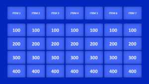 Jeopardy Game Powerpoint Templates in Powerpoint Template Games For Education