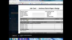 Job Card Template – Youtube intended for Sample Job Cards Templates
