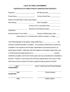 Job Completion Roof Certification Form – Fill Online for Certificate Of Completion Construction Templates