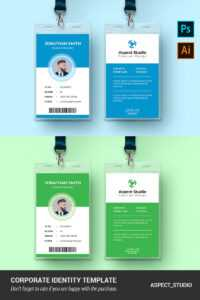 Jonathan Smith Employee Id Card Corporate Identity Template in Id Card Template Ai