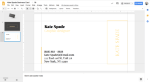 Kate Spade Business Card Template For Google Docs – Stand with Google Docs Business Card Template