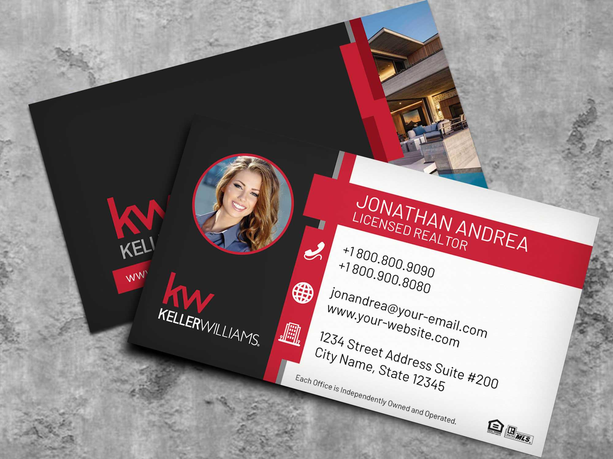 Keller Williams Business Card Template Bc19702Kw - Nusacreative Inside Keller Williams Business Card Templates