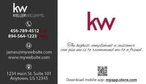 Keller Williams Business Cards   Keller Williams Business in Keller Williams Business Card Templates