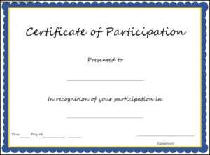 Key Components To Include On Certificate Of Participation with Certification Of Participation Free Template