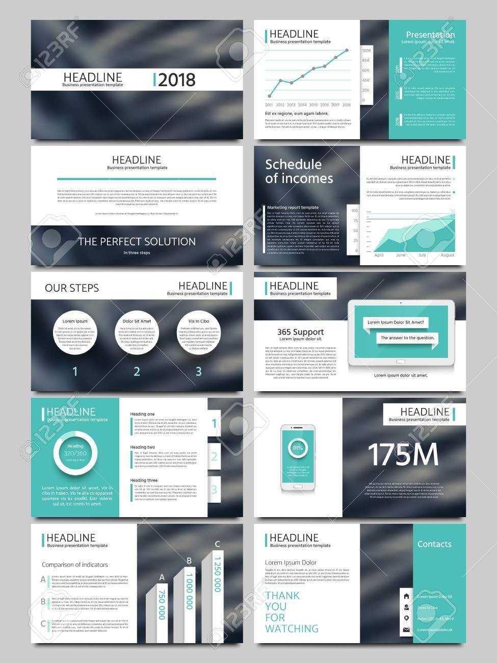 Keynote Style Business Presentation Vector Template. Multipurpose.. Regarding Keynote Brochure Template