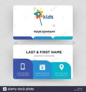 Kids Channel, Business Card Design Template, Visiting For with regard to Id Card Template For Kids