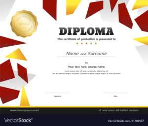 Kids Diploma Or Certificate Template With Gold with regard to Softball Certificate Templates Free