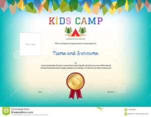 Kids Summer Camp Diploma Or Certificate Template Award inside Summer Camp Certificate Template