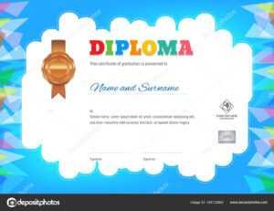 Kids Summer Camp Diploma Or Certificate Template — Stock for Summer Camp Certificate Template