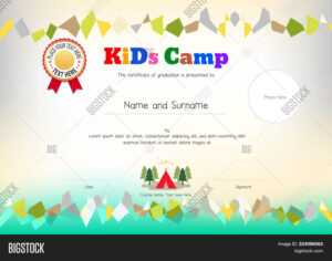 Kids Summer Camp Vector & Photo (Free Trial) | Bigstock pertaining to Summer Camp Certificate Template