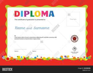 Kids Summer Camp Vector & Photo (Free Trial) | Bigstock throughout Summer Camp Certificate Template