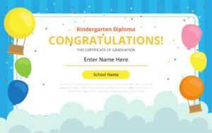 Kindergarten Certificate Free Vector Art – (32 Free Downloads) inside Fun Certificate Templates