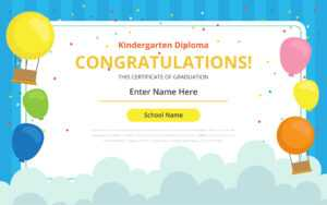 Kindergarten Certificate Free Vector Art – (32 Free Downloads) intended for Preschool Graduation Certificate Template Free