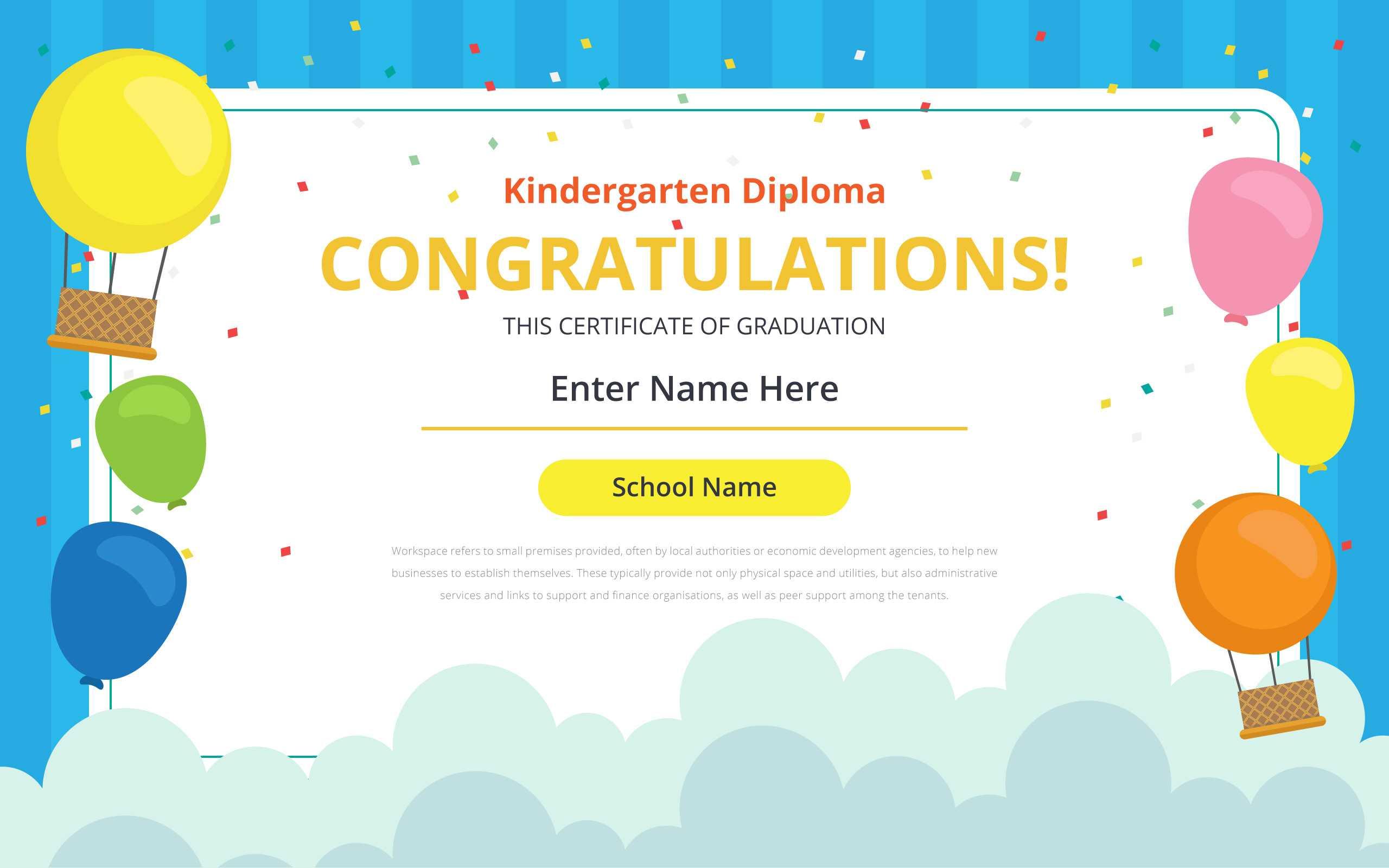 Kindergarten Certificate Free Vector Art – (32 Free Downloads) Intended For Preschool Graduation Certificate Template Free