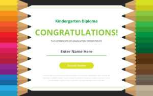 Kindergarten Diploma Certificate Template – Download Free in Small Certificate Template
