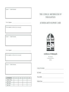 Kindergarten Report Card Template – Fill Online, Printable with regard to Blank Report Card Template