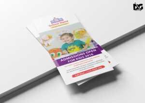Kindergarten School Tri Fold Brochure Design Template throughout Tri Fold School Brochure Template