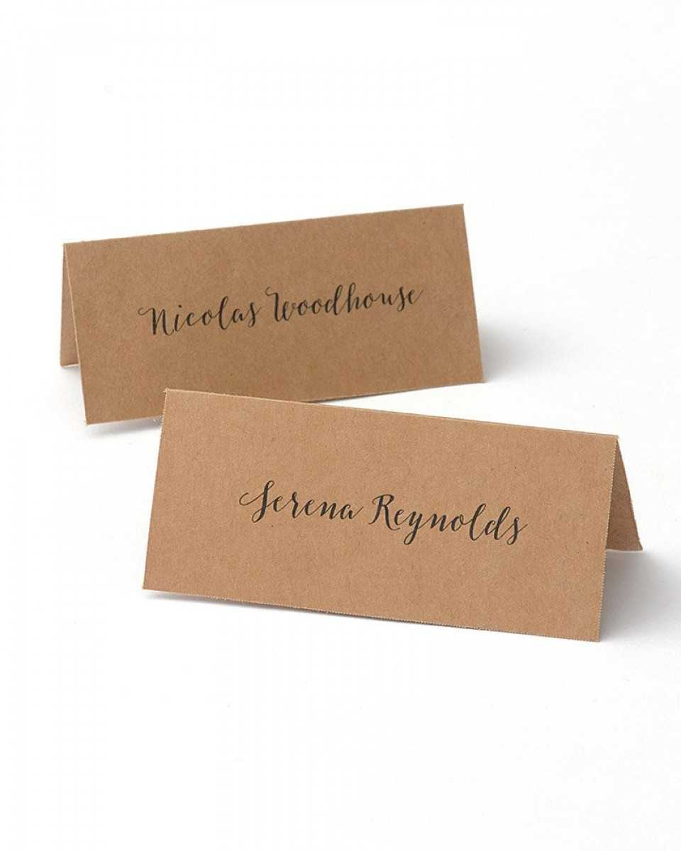 Kraft Printable Place Cards Within Gartner Studios Place Cards Template