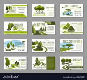 Landscape Design Studio Business Card Template in Gardening Business Cards Templates