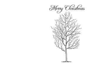 Landscape Homemade Christmas Cards   Labontemty inside Diy Christmas Card Templates