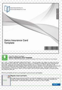 Large Size Of Geico Insurance Card Template Software throughout Auto Insurance Card Template Free Download