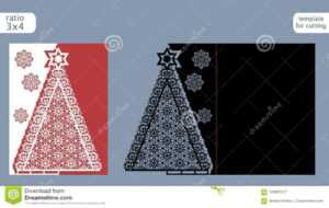 Laser Cut Out Christmas Card Template. Die Cut Paper Card within Fold Out Card Template