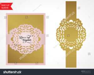 Laser Cut Wedding Invitation Template Silhouette Stock in Silhouette Cameo Card Templates