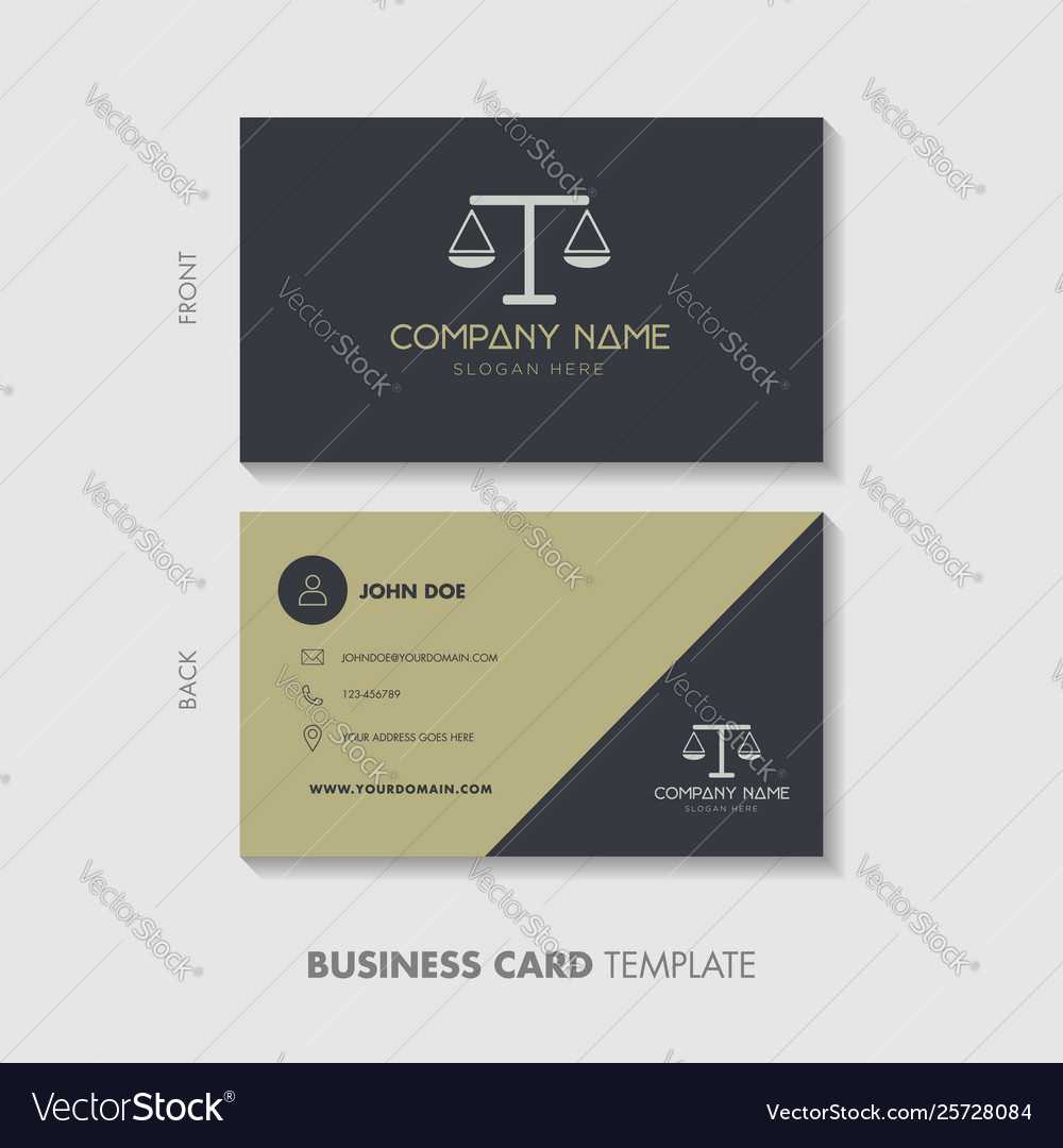 Lawyer Business Card Template Design In Lawyer Business Cards Templates