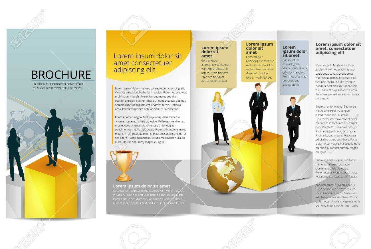 Leadership Training Progress Brochure Template Pertaining To Training Brochure Template