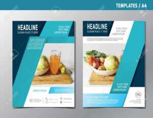Leaflet Brochure Template A4 Size Design.abstract Flat Modern.. with regard to Nutrition Brochure Template